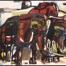 elephants in landscape