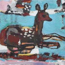 deer (reclining)