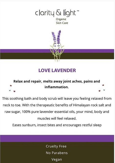 Love Lavender Body Scrub & Bath Salts