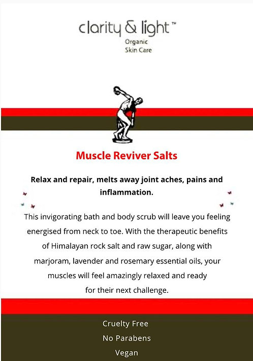Muscle  Reviver body scrub & bath salts