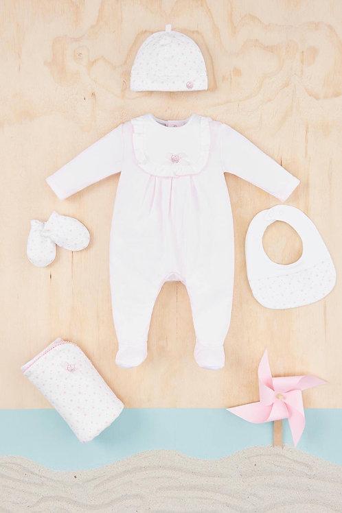 Baby girl cotton Pink babygrow Paz Rodriguez