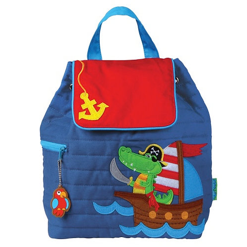 Stephen Joseph Quilted Backpack Pirate Alligator
