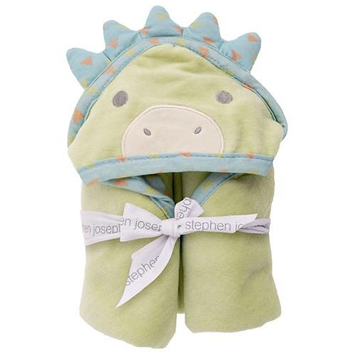 Hooded Bath Towel Dino for Baby Stephen Joseph
