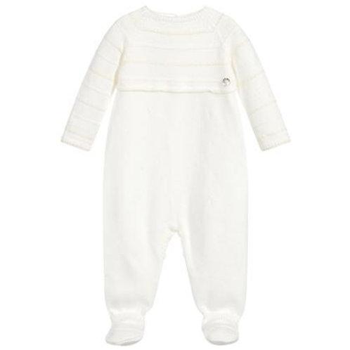 Babies Ivory Knit babygrow Paz Rodriguez