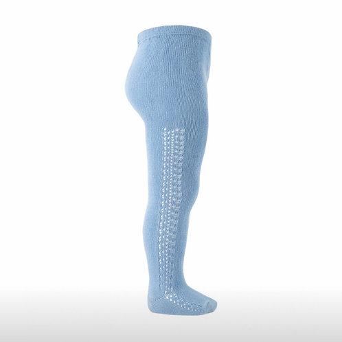 Girls Crochet Tights Condor BLUE