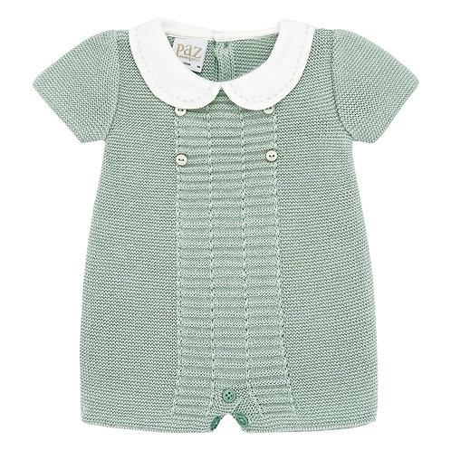 Paz Rodriguez Mint Knit Playsuit