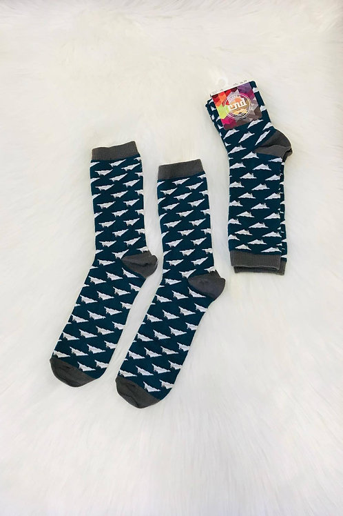 Boys Airplane embroidery short socks green Condor.