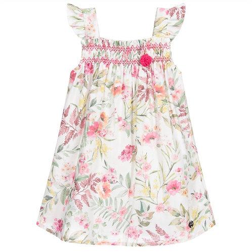 Paz Rodriguez Floral Linen Dress