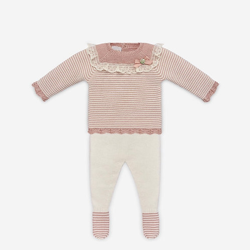 Knit 3  pieces set (bonnet)Aurora Paz Rodriguez 11923