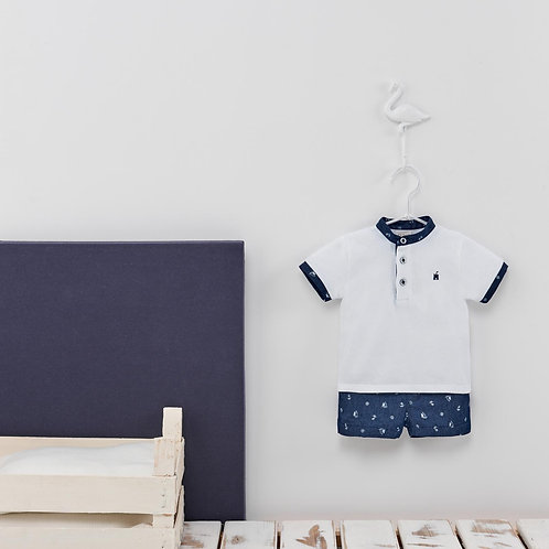 Boys Knit Shirt and Short Set 02419444