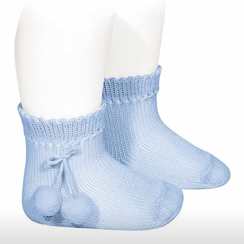 Boys & Girls Pom Pom Ankle Sock Condor
