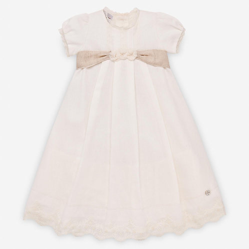 Girls Christening Dress Ivory and Bonnet Paz Rodriguez 15299