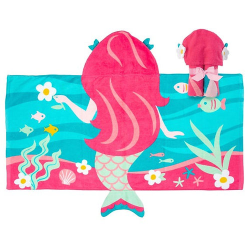 Hooded Towel Mermaid Stephen Joseph