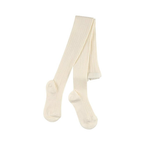 Children Ribbed Tights Condor IVORY Made in Spain