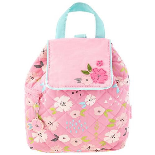 Quilted Backpack for Baby Flowers Stephen Joseph