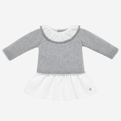knit Dress Pegasus Grey or pink. Paz Rguez 12909