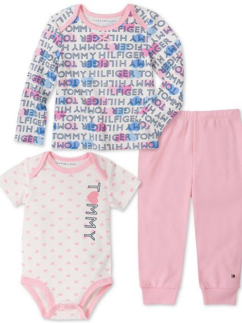Baby Girl 3 pieces set Tommy hilfiger