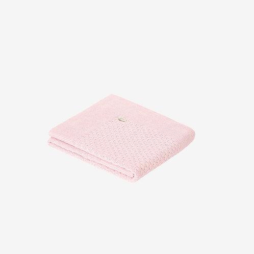 Paz Rodriguez Dusky Pink Knitted Blanket