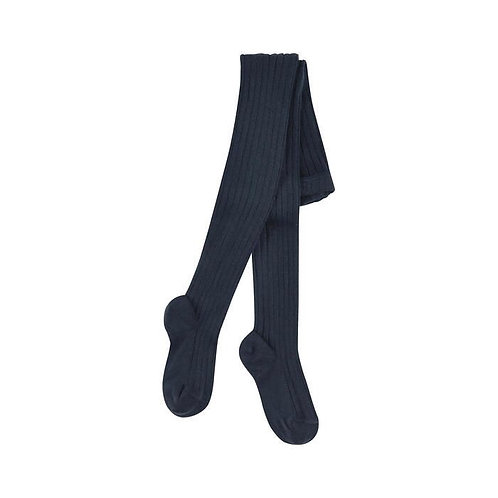 Children Ribbed Tights Condor NAVY Made in Spain