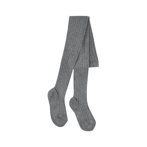 Children Ribbed Tights Condor Grey Made in Spain