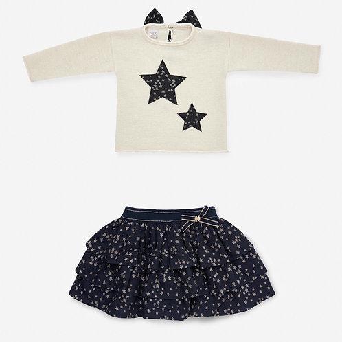 Girls Knit Pullover & Skirt Paz Rodriguez 11026