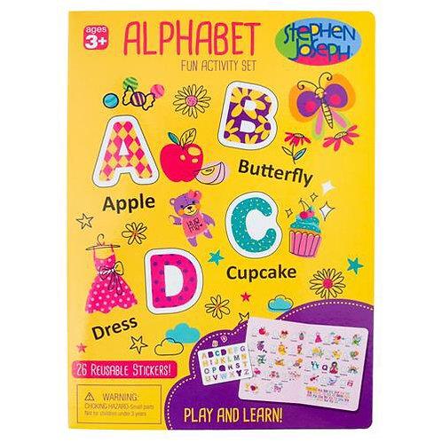 Alphabet Cling Boards Girl Stephen Joseph