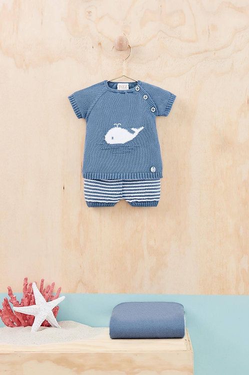 Knitted Whale Set baby boy Paz Rguez