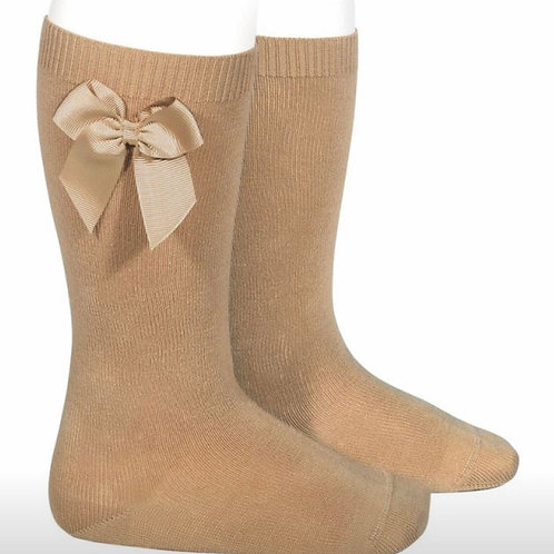 Girls Knee Socks w/ Bow Condor