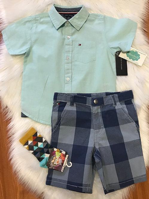Boys Shirt & Short set Tommy Hilfiger.