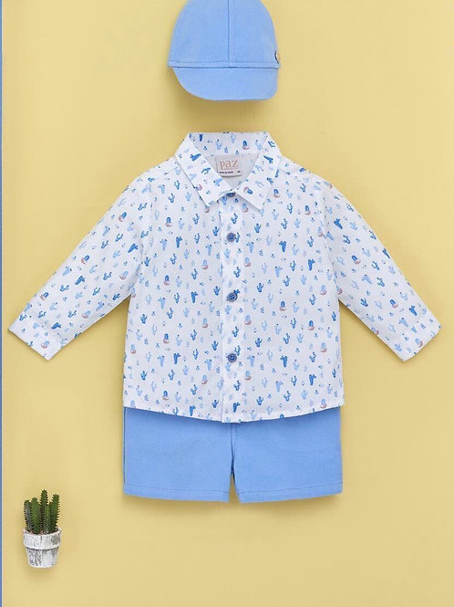 Boys Woven Shirt & Short. 006-15519