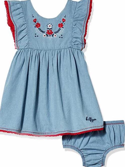 Girls Denim Dress with Bloomer Tommy Hilfiger