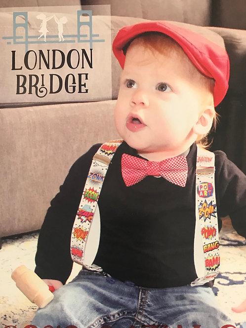 Suspenders and Bow tie Set. London Bridge