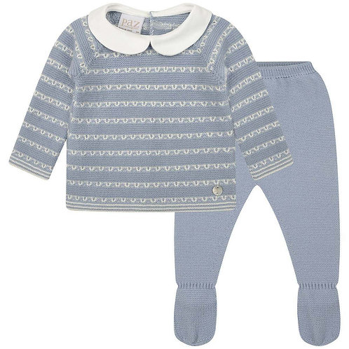Baby Boys Blue Knitted 2 pieces set Saturno Paz Rguez 11843