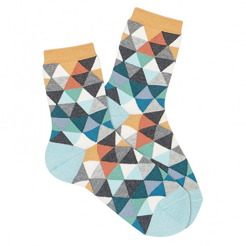 Boys Geometric embroidery short socks ice Condor