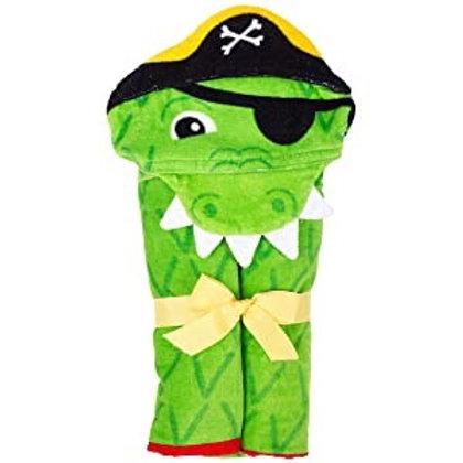 Hoodded Towel Alligator stephen joseph
