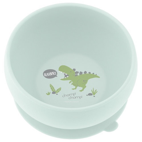 Suction Cup Silicone Bowls Dino Stephen Joseph