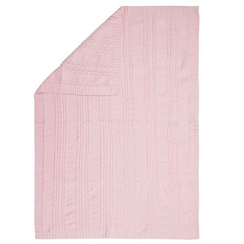 Chenille Blanket Pink Stephen Joseph