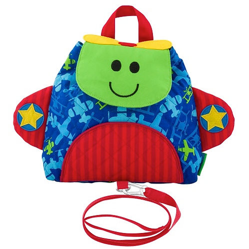Airplane  Buddy Bag Backpack w/ Safety Harness Stephen Joseph.