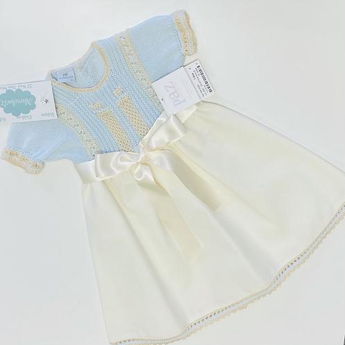 Scallop Knit-hem Dress