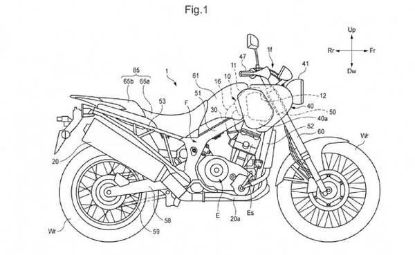 Honda progetta una enduro bicilindrica old style