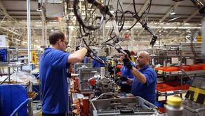 Produzione industriale, in aumento del 37,7% rispetto al 2020