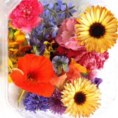 Mix Flores comestibles.