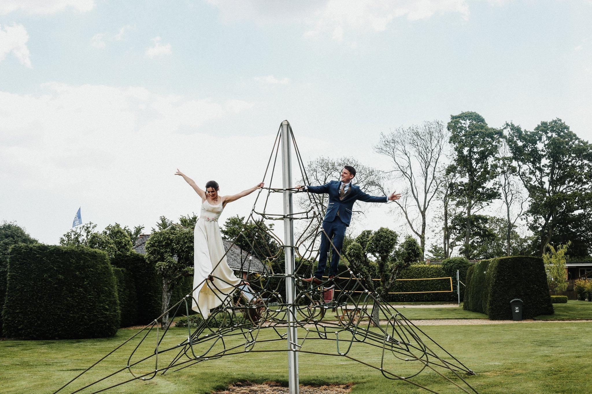 Climbing frame wedding