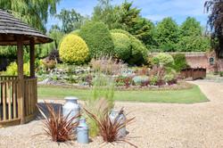 Walled garden landscaped