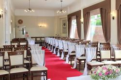 Wedding ceremony red carpet