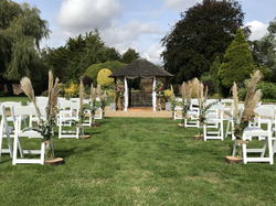 Outdoor ceremony venue Dorset