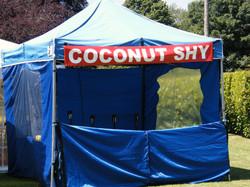 Fair ground stall coconut shy