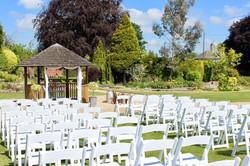 Outdoor wedding ceremony gardens