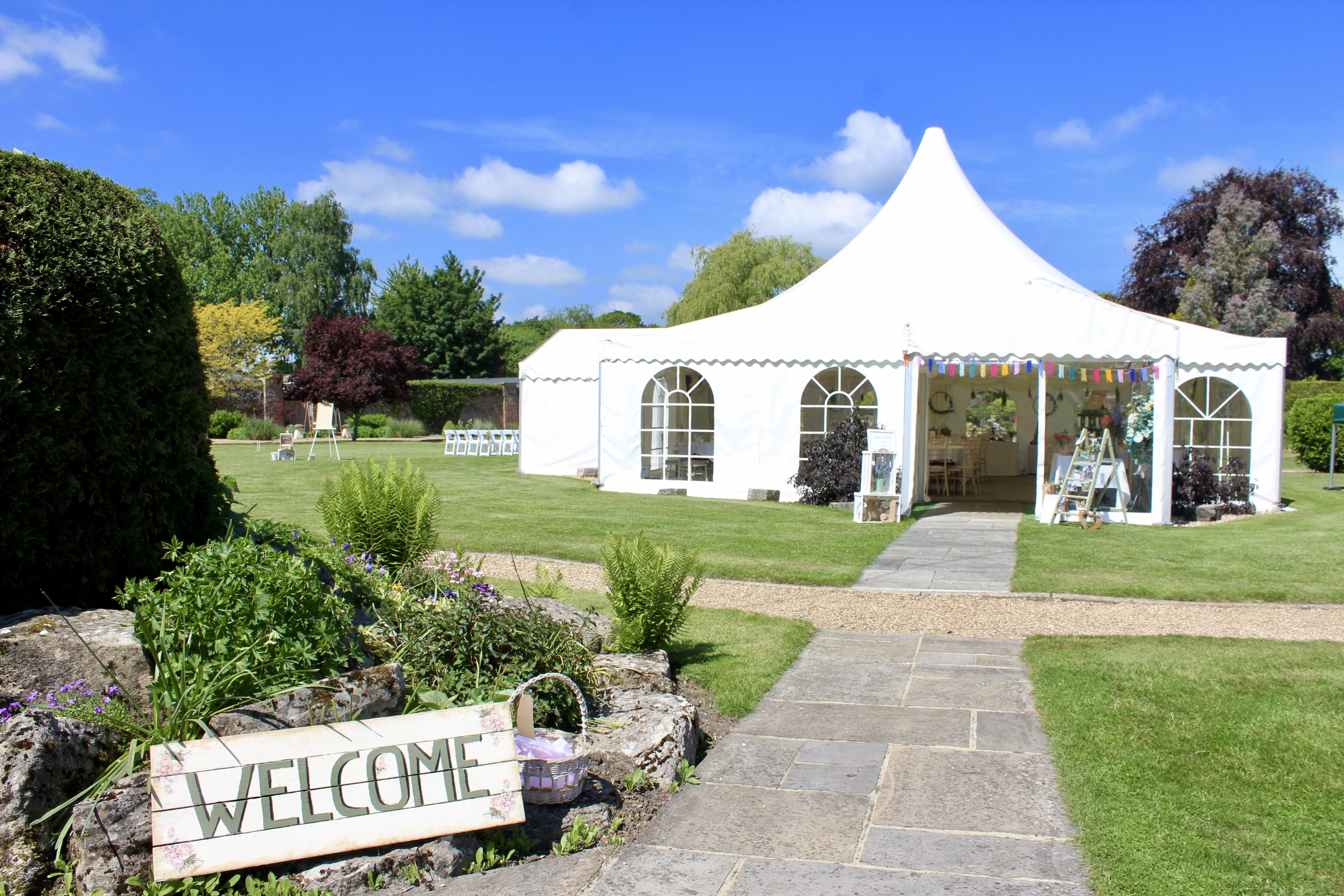 Pagoda marquee welcome