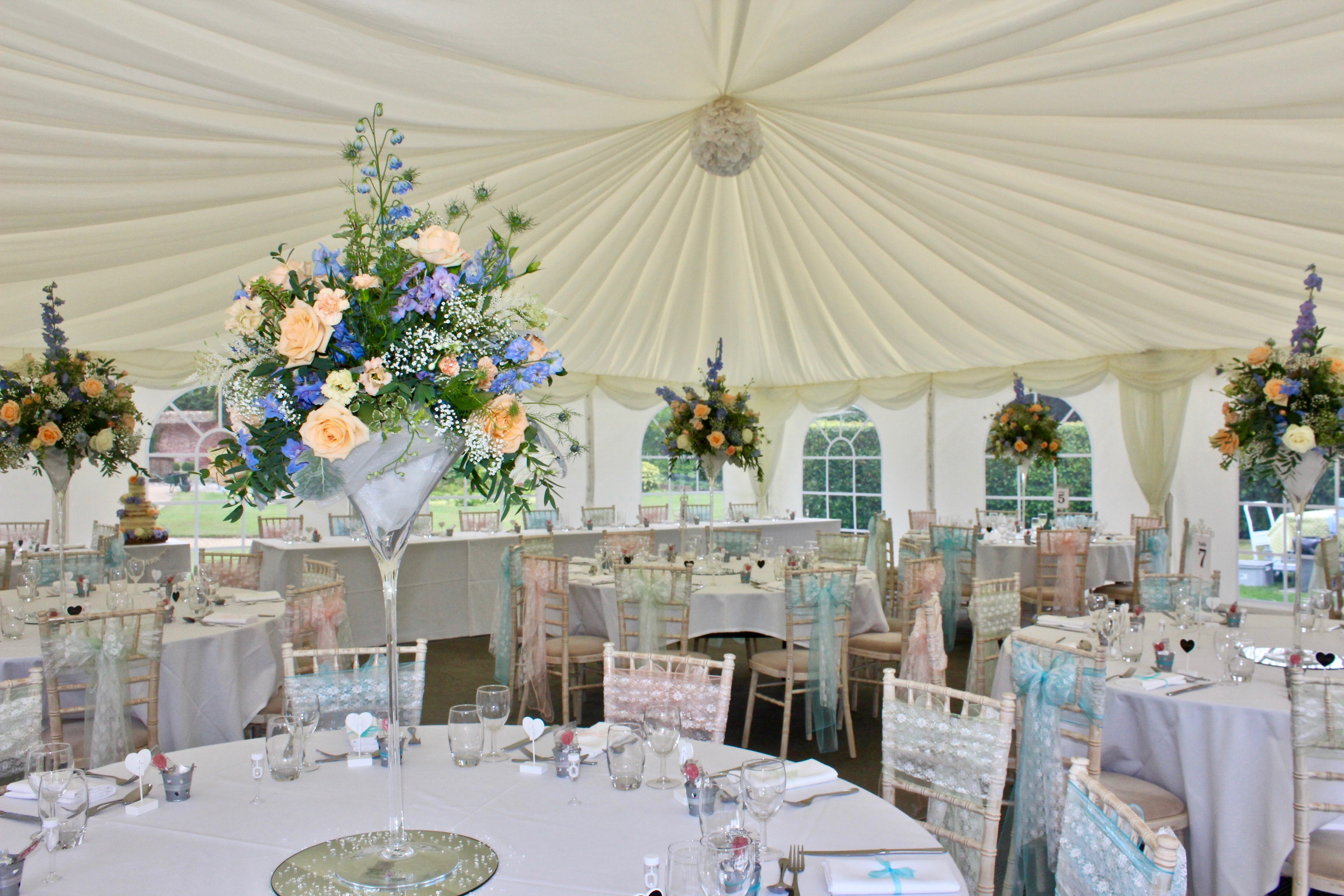 The Orangery Suite Marquee Reception